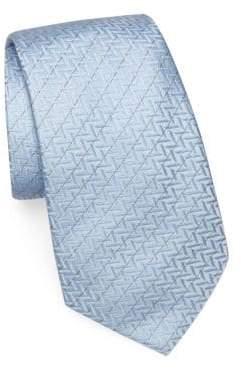 Emporio Armani Zigzag Silk Tie