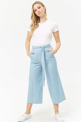 Forever 21 Pinstriped Cropped Pants