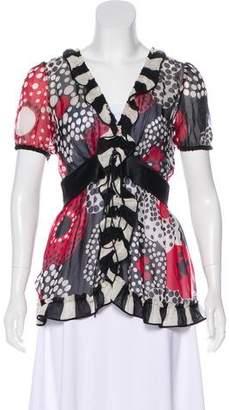 Dolce & Gabbana Printed Short Sleeve Blouse