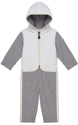 Moncler Hooded Zip-Up Jacket w/ Matching Pants, Size 6M-3