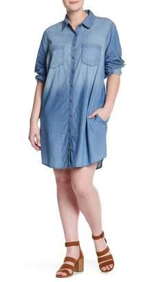 Melrose and Market Chambray Shirt Dress (Plus Size)