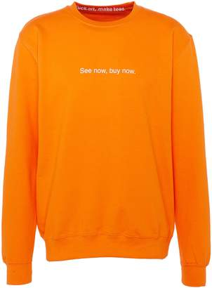 F.A.M.T. 'See Now, Buy Now' print unisex sweatshirt