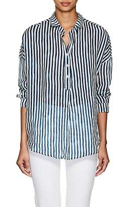 A Shirt Thing Women's Oversized Striped Gauze Blouse Size 3