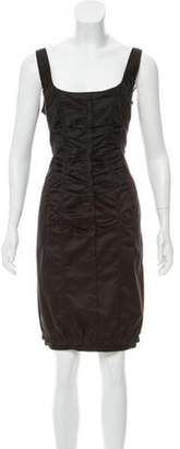 Nina Ricci Sleeveless Knee-Length dress Black Sleeveless Knee-Length dress