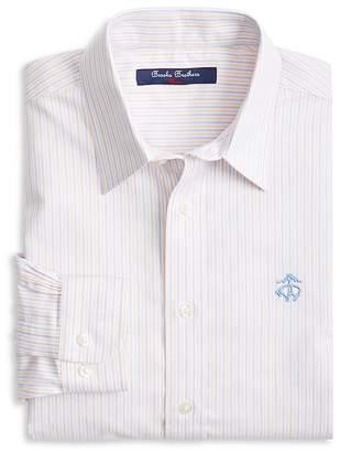 Brooks Brothers Boys' Non-Iron Striped Oxford Sport Shirt - Little Kid, Big Kid
