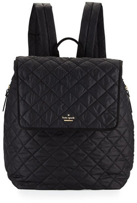 Kate Spade New York Torrence Quilted Nylon Baby Backpack, Black $348 thestylecure.com