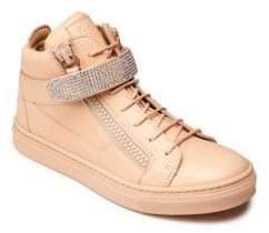 Swarovski Giuseppe Junior Baby's, Toddler's& Kid's Crystal Embellished Leather Sneakers