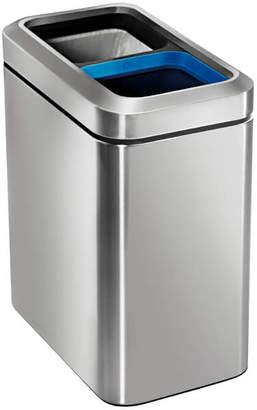 Simplehuman Slim Open Recycler Bin - Brushed Steel 20L