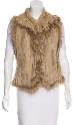 Haute Hippie Fur Fringe Vest