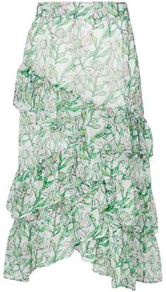Dodo Bar Or tiered floral print skirt