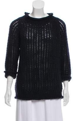 Calypso Open Knit Wool Sweater