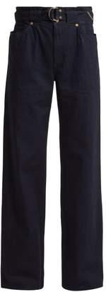 Atelier Jean Cinch Belted Waist Jeans - Womens - Black