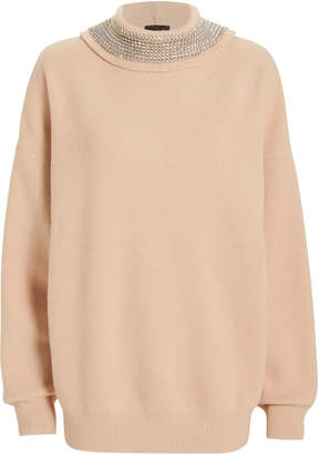 Alexander Wang Crystal Turtleneck Pullover