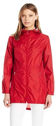 Calvin Klein Women's Lightweight Packable Rain Anorak Jacket with Logo