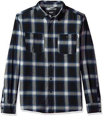 HUF Men's Ombre Plaid Long Sleeve Shirt
