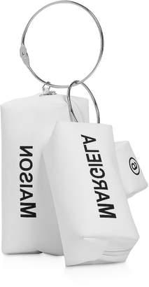 Maison Margiela Three White Clutches w/ Metal Handle