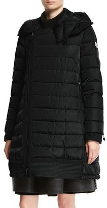 Moncler Christabel Quilted Puffer Coat, Black $1,955 thestylecure.com