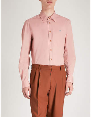 Vivienne Westwood Logo-embroidered classic-fit stretch-cotton shirt
