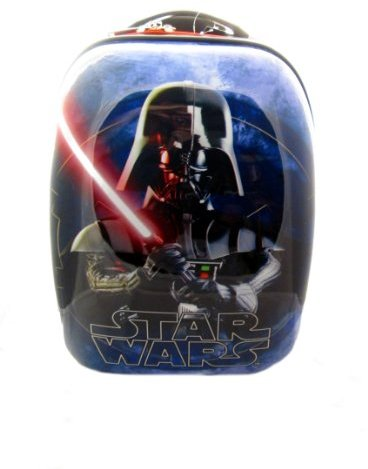 "Star Wars Kids' Darth Vader ABS Luggage, Blue, 16"""