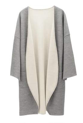 Cuyana Lightweight Reversible Knitted Coat