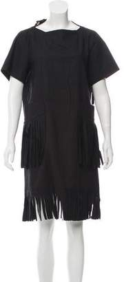 Sacai Fringe Short Sleeve Dress w/ Tags