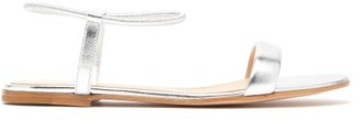 Gianvito Rossi Nikki Metallic Leather Sandals - Womens - Silver