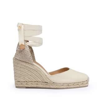 Castaner Women's Carina Canvas Wedge Espadrille Shoes 8CM /36