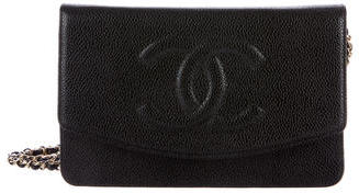 ChanelChanel Timeless Caviar Wallet on Chain