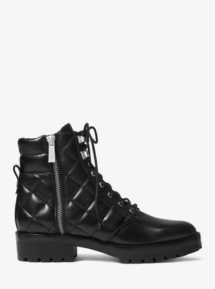 MICHAEL Michael Kors Rosario Leather Combat Boot