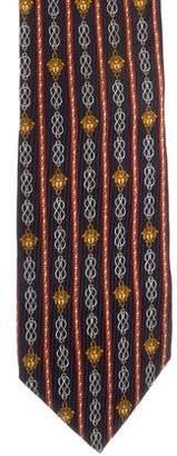 Gianni Versace Silk Medusa Print Tie