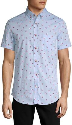 Sovereign Code Men's Crystal Cove Cotton Button-Down Shirt