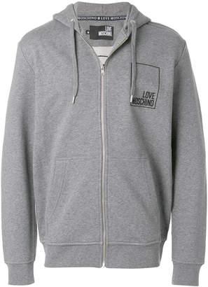 Love Moschino zipped front hoodie