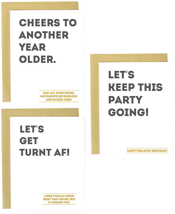 'Another Year Older' Greeting Card Set