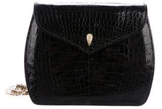 Lana of London Alligator Flap Crossbody Bag