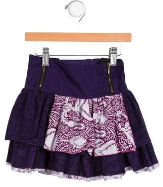 Catimini Girls' Flared Floral Skirt