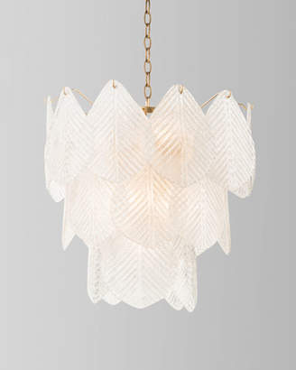 John-Richard Collection 9-Light Frosted Glass Chandelier