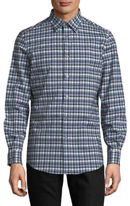 Perry Ellis Long-Sleeve Check Sport Shirt
