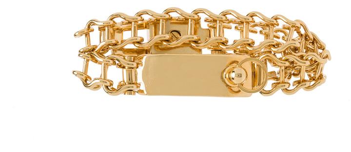 Chloé Bessie Brass Double Bracelet in Gold