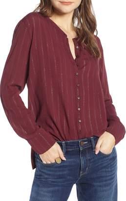 Treasure & Bond Metallic Sheer Stripe Shirt