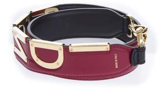 Fendi Leather Strap You Black Strawberry With Logo
