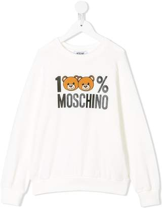 Moschino Kids 100% logo sweatshirt