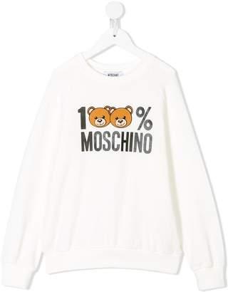 Moschino Kids 100% logo sweatshirt