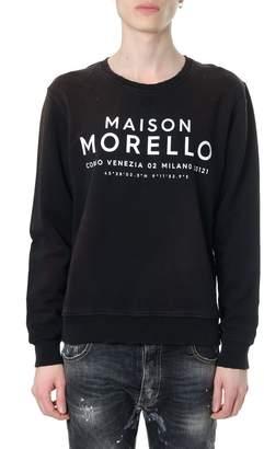 Frankie Morello Maison Morello Black Cotton Sweatshirt