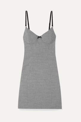 Alexander Wang Houndstooth Tweed Mini Dress - Black