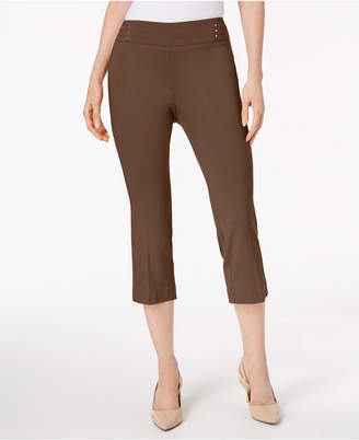 JM Collection Embellished Pull-On Capri Pants