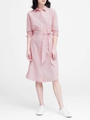 Banana Republic JAPAN EXCLUSIVE Stripe Tie-Waist Shirt Dress