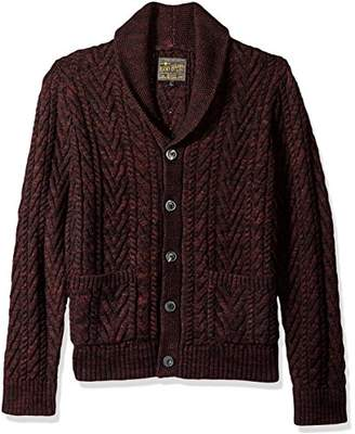 Lucky Brand Men's Cable Knit Cardigan Sweater