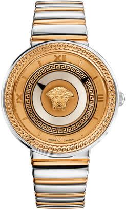 Versace 40mm V-Metal Icon Watch w\/ Bracelet Strap