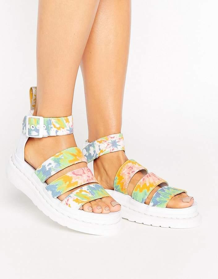 Dr. MartensDr Martens Clarissa Vegan Tie Dye Strappy Chunky Flat Sandals
