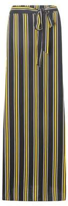 Dorothy Perkins Womens Ochre Striped Maxi Skirt